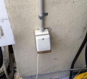 防水コンセント設置工事